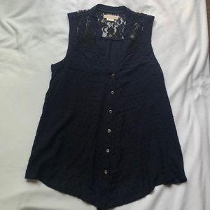 Gorgeous navy blue blouse